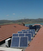 solor panels on roof